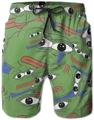 Trunks Qpkia Sad Pepe Not Sad Men Swim Pants Pocket