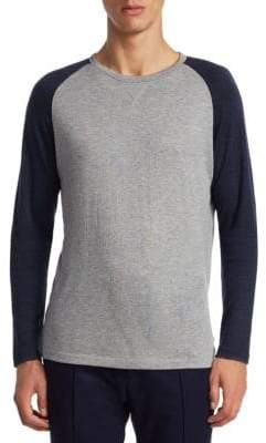 Ralph Lauren Purple Label Long-Sleeve Raglan Tee
