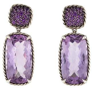 David Yurman Amethyst Châtelaine Double Drop Earrings