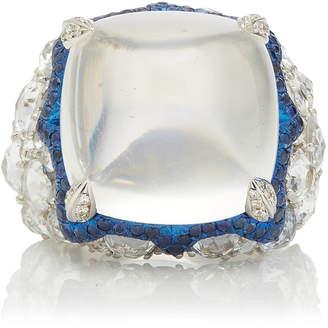 Arunashi One-Of-A-Kind Blue Moonstone Sugarloaf Ring