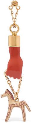 Chloé Femininities Gold-tone Resin Earrings - Orange