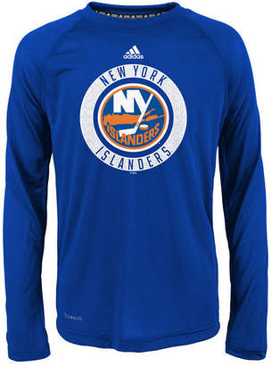adidas New York Islanders Practice Graphic Long Sleeve T-Shirt, Big Boys (8-20)