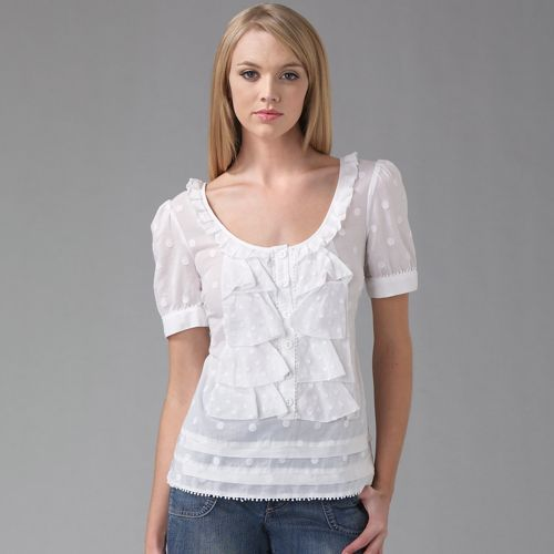 Juicy Couture Ruffle Front Top