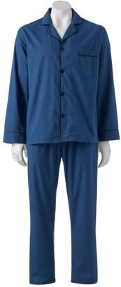 Hanes Men's Classics Solid Woven Pajama Set