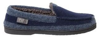 Dearfoams DF by Men's Two Tone Felted Moc Slippers