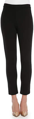 Joan Vass Petite Ponte Slim Ankle Pants