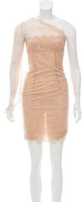 Emilio Pucci One-Shoulder Lace Dress