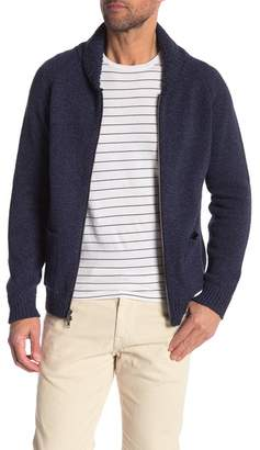 Save Khaki Knit Zip Cardigan