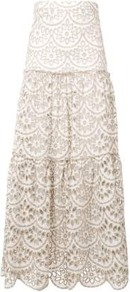 Pinko scalloped hem cut-out skirt