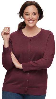 Croft & Barrow Plus Size Essential Cardigan Sweater