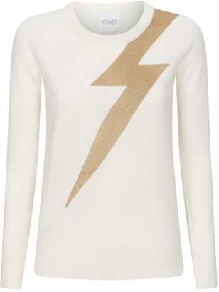 Madeleine Thompson Greve Lightning Bolt Cashmere Sweater
