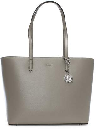 DKNY Large Bryant Warm Grey Leather Tote Bag