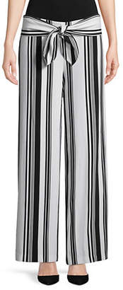 INC International Concepts Tie-Front Wide-Leg Trousers