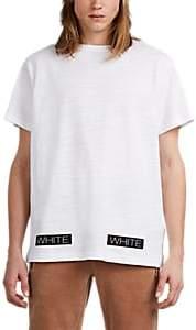 Off-White OFF - WHITE C/O VIRGIL ABLOH MEN'S LOGO-BOX FINE-GAUGE SLUB COTTON T-SHIRT