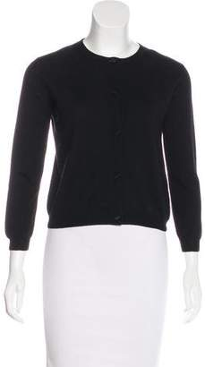Lanvin Wool-Blend Crew-Neck Cardigan