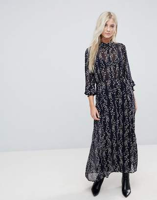 Only Ditsy Printed Maxi Shirt Dress
