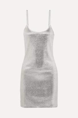 Paco Rabanne Lurex Mini Dress - Silver