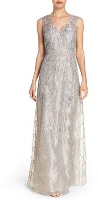 Women's Adrianna Papell Beaded A-Line Gown $379 thestylecure.com