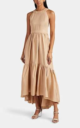 BEIGE Laura Garcia Collection Women's Natalie Silk-Linen Maxi Dress - Beige, Tan