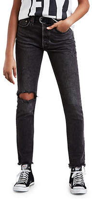 Levi's 501 Well Worn Ripped Skinny Jeans