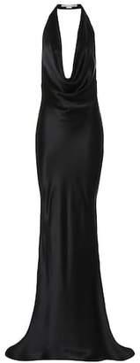 Stella McCartney Silk satin halter gown
