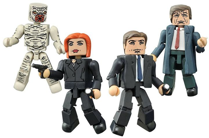 Diamond select toys X-Files Classic Minimates Box Set by Diamond Select Toys