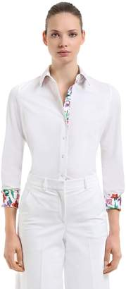 Salvatore Ferragamo Bouquet Printed Cotton Poplin Shirt