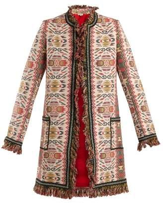 Talitha - Aztec Jacquard Cotton Blend Coat - Womens - Multi
