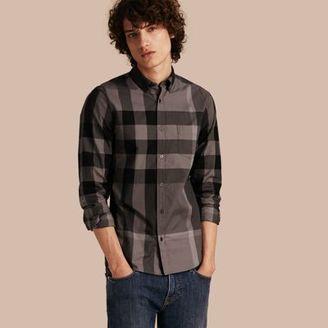 Burberry Check Cotton Shirt $295 thestylecure.com
