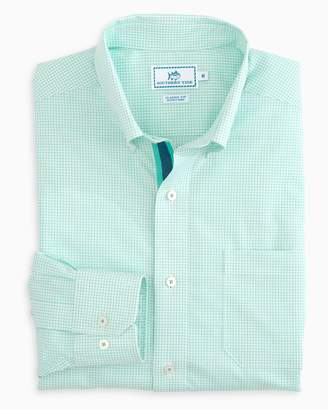 Southern Tide Watermark Tattersall Grosgrain Placket Sport Shirt