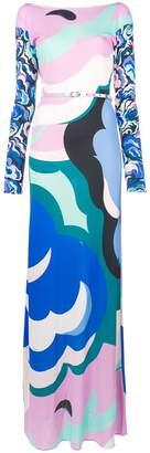 Emilio Pucci boat neck long dress