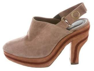 Marni Suede Slingback Booties