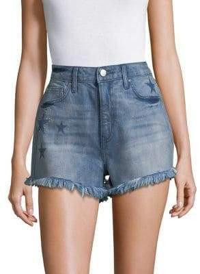 Design Lab Studded Star Denim Shorts