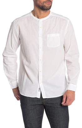 Velvet by Graham & Spencer Banded Collar Classic Fit Shirt