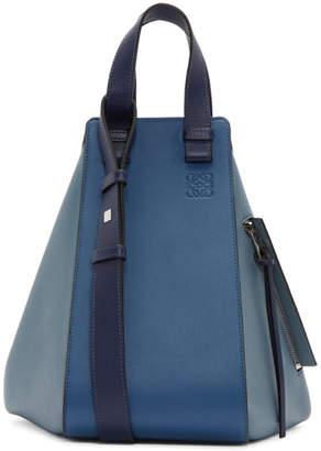 Loewe Blue and Navy Hammock Bag