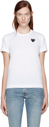 Comme des Garçons Play White Heart Patch T-Shirt $100 thestylecure.com