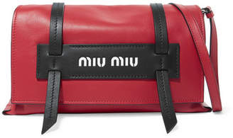 Miu Miu Grace Leather Shoulder Bag - Red