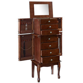 FINE JEWELRY Walnut Jewelry Armoire