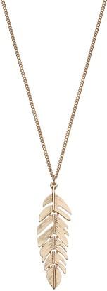 Lauren Conrad Long Leaf Pendant Necklace