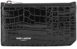 Saint Laurent Classic Paris leather card holder
