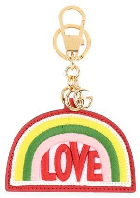 Gucci Rainbow embroidered leather keychain