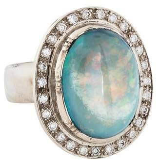 Brooke Gregson 18K Boulder Opal & Diamond Cocktail Ring