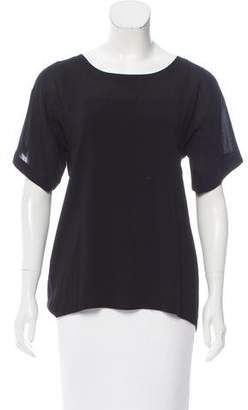 Donna Karan Semi-Sheer Short Sleeve Top w/ Tags