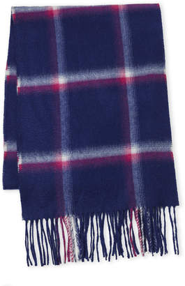 Fraas Windowpane Cashmere Scarf