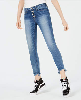 Flying Monkey Raw-Hem Button-Fly Jeans