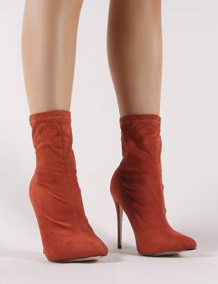 553bfac7d4d6 Public Desire Yaya Pointed Ankle Boots in Rust
