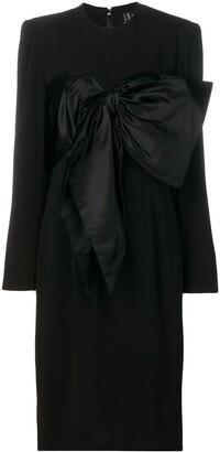 Jean Louis Scherrer Pre-Owned bow detail dress