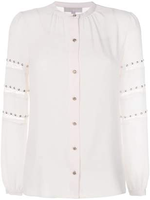 MICHAEL Michael Kors lace stripe stud shirt