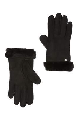 UGG Genuine Sheepskin Fur Slim Side Vent Gloves