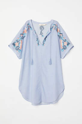 H&M Tunic with Embroidery - Blue